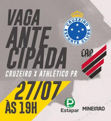Cruzeiro X Athlético-PR - Entrada permitida à partir das 16h