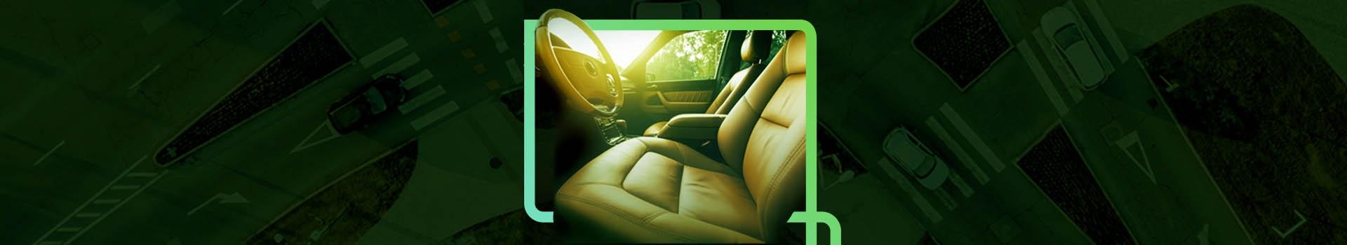 A imagem apresenta o banco de um carro, dentro do elemento da marca Estap