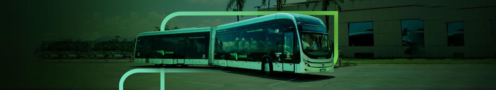 Ônibus articulado elétrico novidade no Brasil